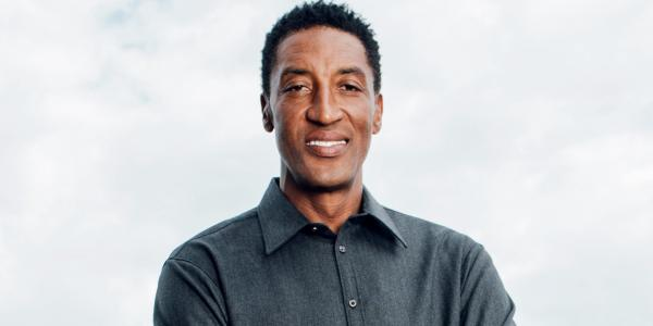 photo of Scottie Pippen on partnering with American Express and the Calm meditation app to tell the history of basketball in a… image