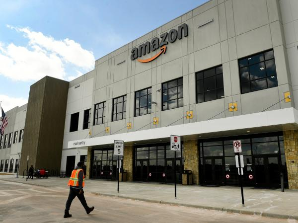 An Amazon worker says she's homeless…