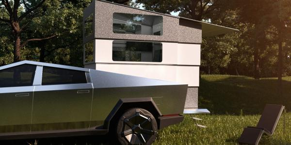 This $50,000 attachment turns your Tesla Cybertruck into a campervan - and it even comes with a Starlink dish