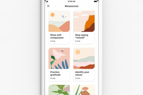 photo of Pinterest launches wellness activities to help users cope with stress, anxiety image