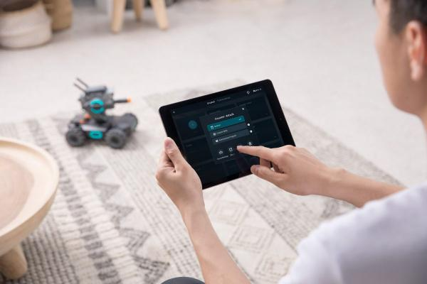 photo of DJI's RoboMaster S1 is a four-wheeled robot that teaches kids how to code image