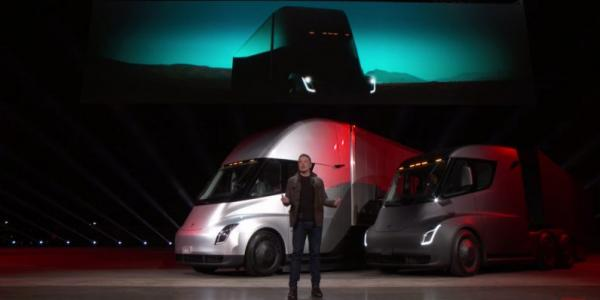 photo image Tesla's electric Semi does 0-60mph in 5 seconds, and 500 miles on a single charge