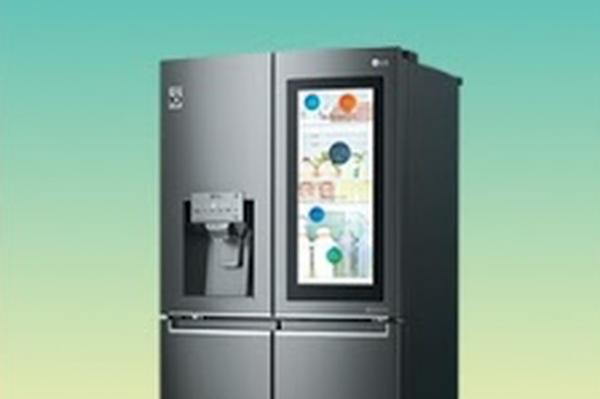 photo image LG's new ThinQ smart fridge has a transparent 29-inch touchscreen