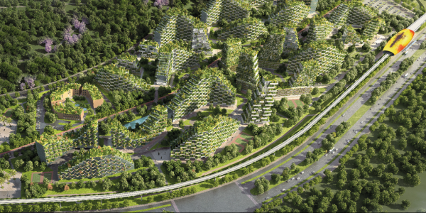 China is building a smog-eating 'forest city' filled with tree-covered skyscrapers