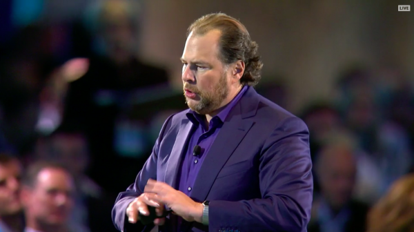 photo image Salesforce showed analysts a 'secret' slide with updated revenue projections through 2034 (CRM)