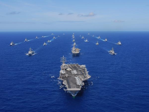 photo image 7 US aircraft carriers are at sea for the first time in years — here's what they're doing